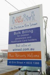 medical centre sign